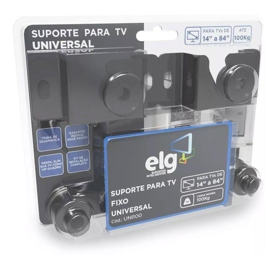 Suporte Fixo Universal ELG Tv 14 A 84 Pol Lcd Led | Uni100