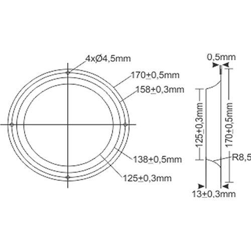Anel Direcional 170mm | Nework
