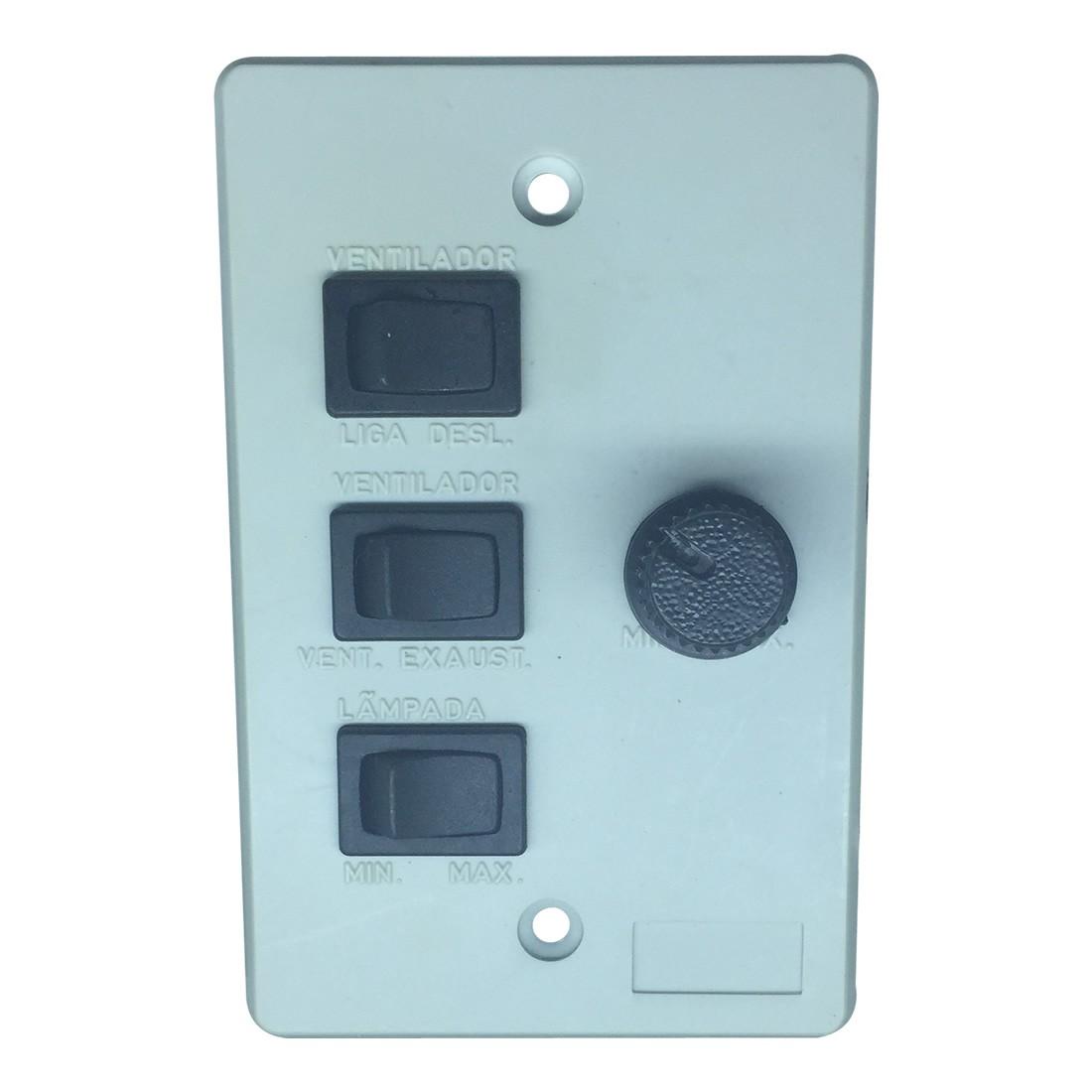 Chave Rotativa Universal Cinza para Ventilador de Teto | Novoar