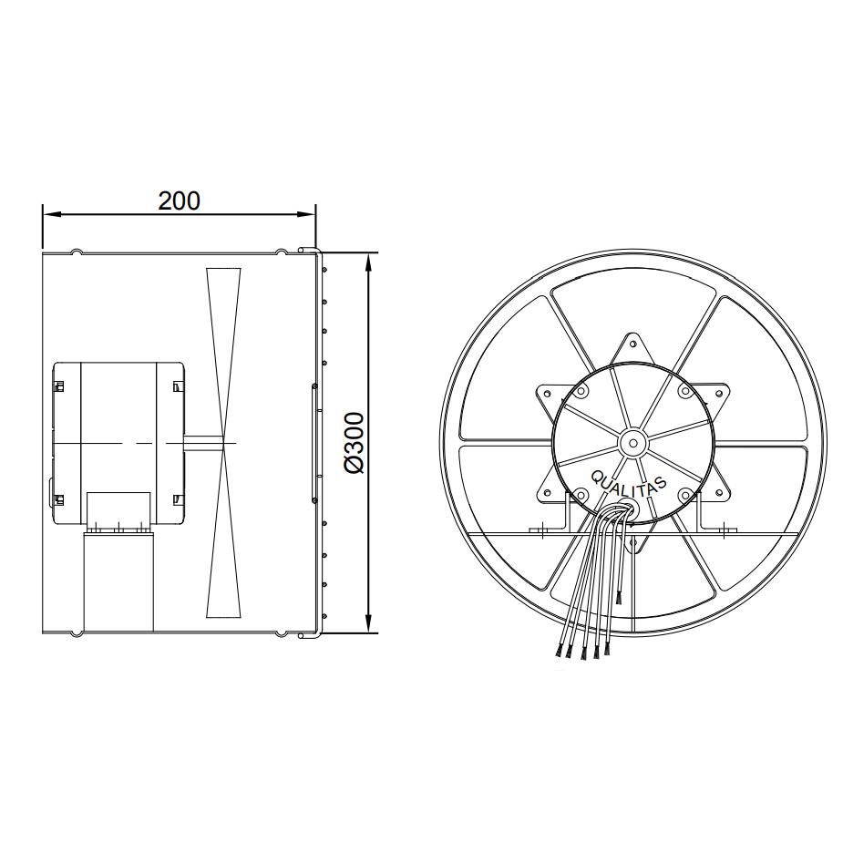 Exaustor Axial Ø30cm   EQ300 AU Alta Umidade - Qualitas