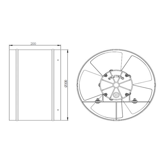 Exaustor Axial Ø30cm | EQ300 - Qualitas