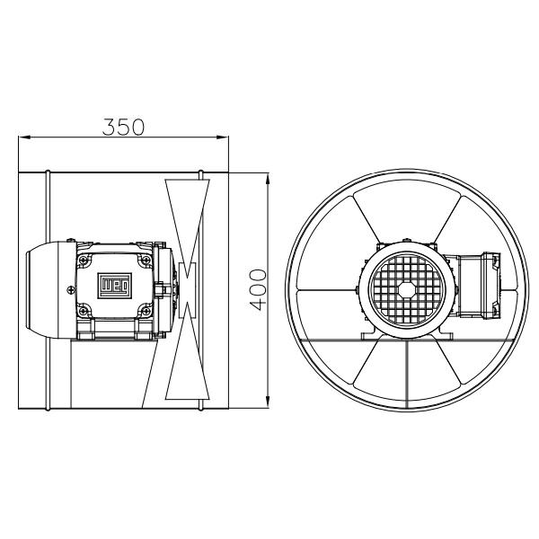 Exaustor Axial Ø40cm | EQ400 T4 À Prova de Explosão - Qualitas