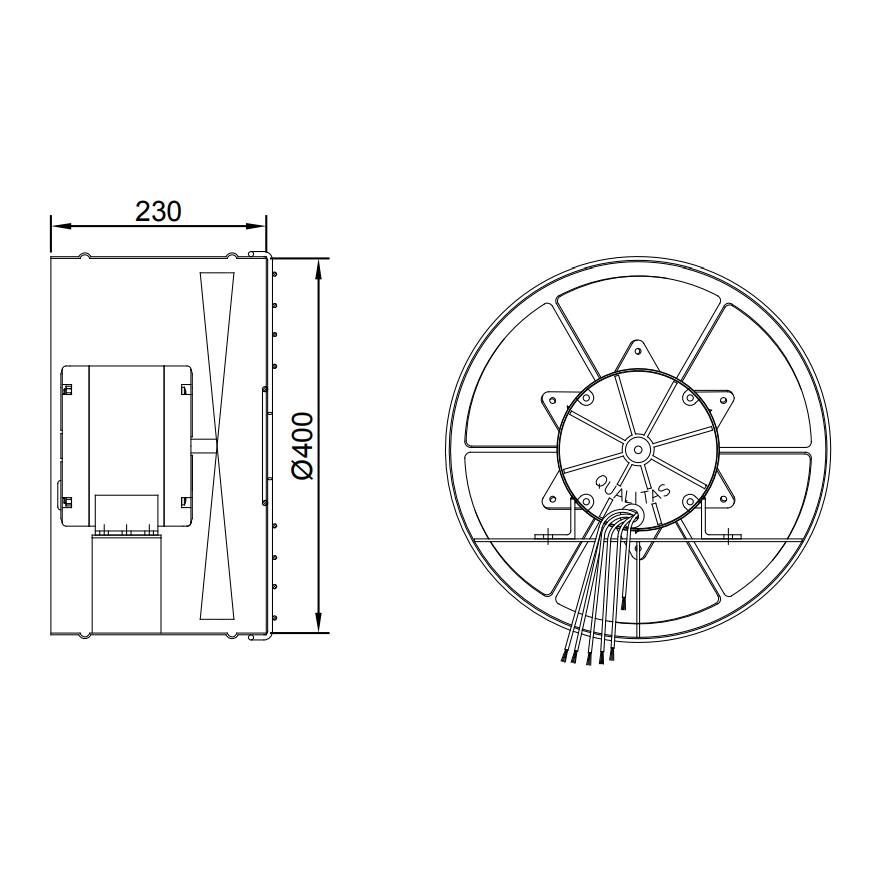 Exaustor Axial Ø40cm   EQ400 AU Alta Umidade - Qualitas