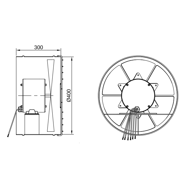 Exaustor Axial Ø40cm | EQ400 Motor WEG - Qualitas