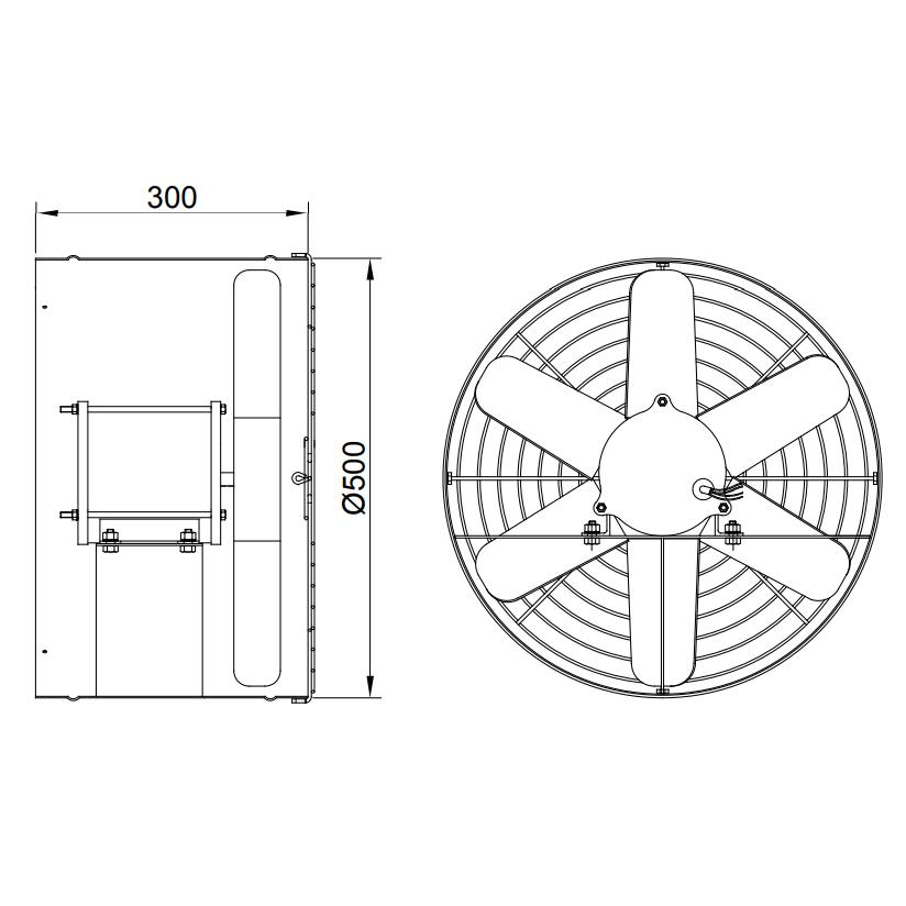 Exaustor Axial Ø50cm | EQ500 AU Alta Umidade - Qualitas