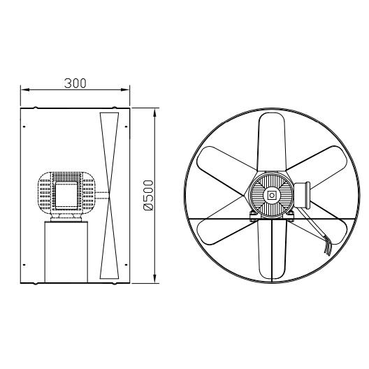 Exaustor Axial Ø50cm | EQ500 Motor WEG - Qualitas