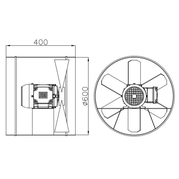 Exaustor Axial Ø60cm | EQ600 T4 À Prova de Explosão - Qualitas