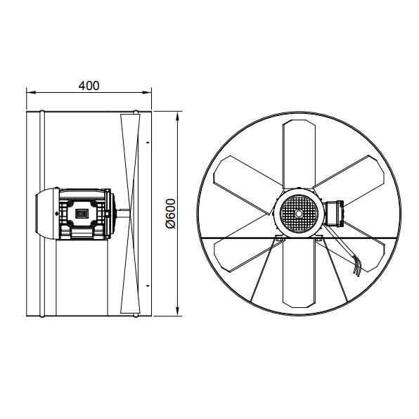 Exaustor Axial Ø60cm | EQ600 Motor WEG - Qualitas