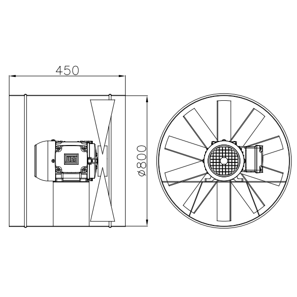 Exaustor Axial Ø80cm | EQ800 T6 À Prova de Explosão - Qualitas