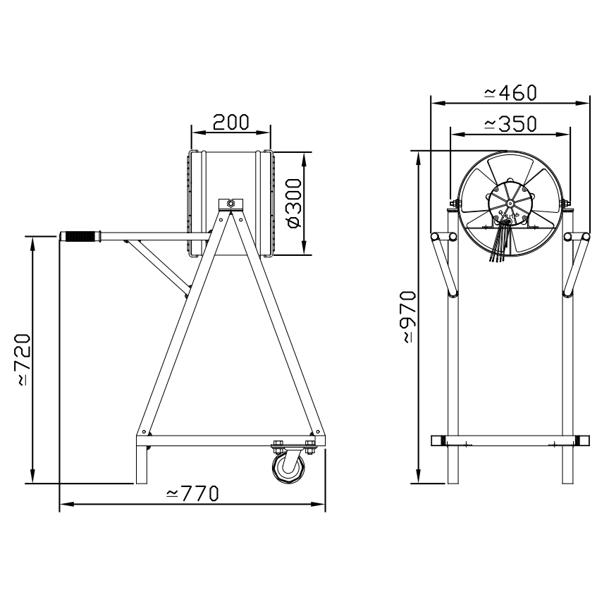 Exaustor Axial Fan Cooler Ø30cm | EQ300 FC T4 - Qualitas