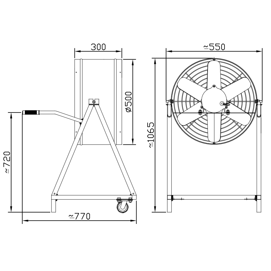 Exaustor Axial Fan Cooler Ø50cm | EQ500 FC - Qualitas