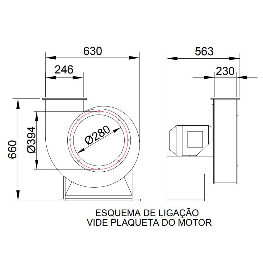 Exaustor Centrífugo - 3 HP | CQ4 T4 - Qualitas