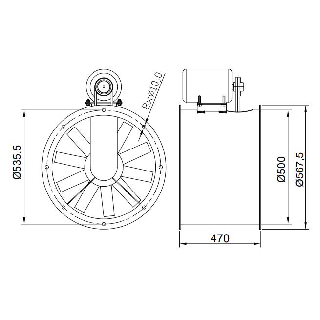 Exaustor de Transmissão Ø50cm | EQ500TR - Qualitas