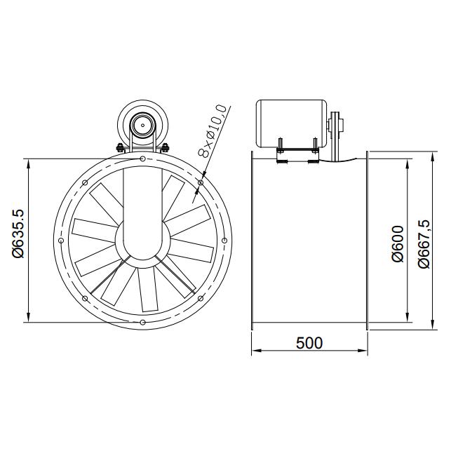 Exaustor de Transmissão Ø60cm | EQ600TR - Qualitas