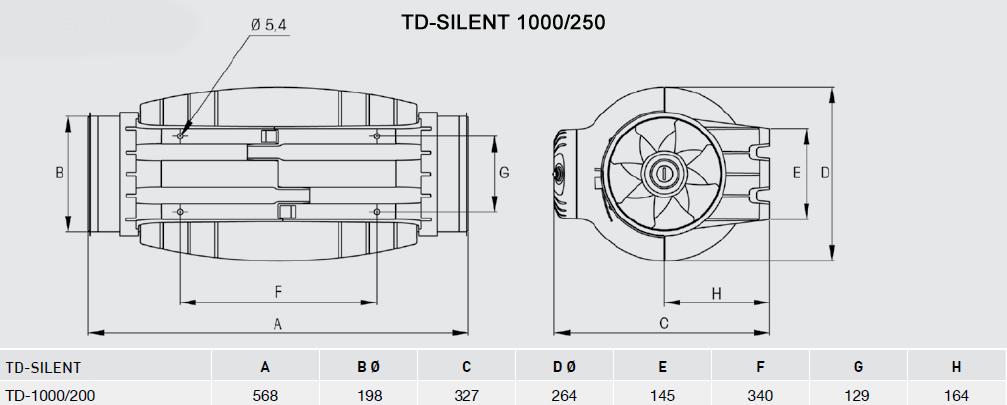 Exaustor Helicocentrífugo InLine   TD-1000/200 Silent - Soler & Palau