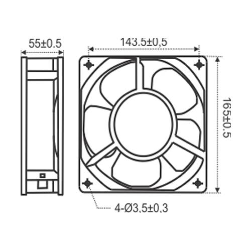 Miniventilador Axial Ø15cm | RT 172 Com Máscara - Nework
