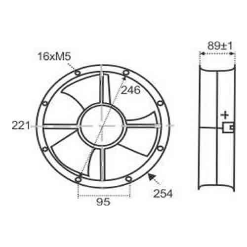 Miniventilador Axial Ø25,4cm | RT 254 - Nework