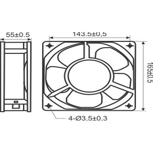 Miniventilador Axial Nework com Máscara RT 172 | Nework