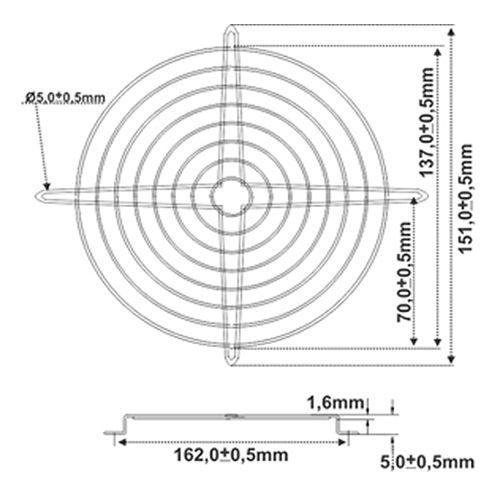 Tela de Proteção Para Miniventilador | RT 150 - Nework