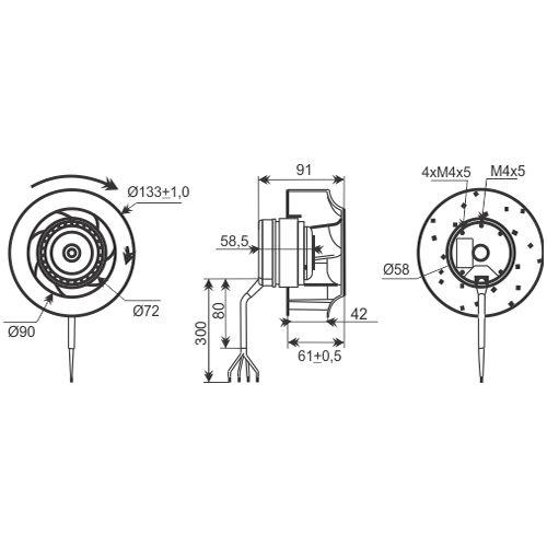 Ventilador Radial Centrífugo | 133 x 42R - Nework