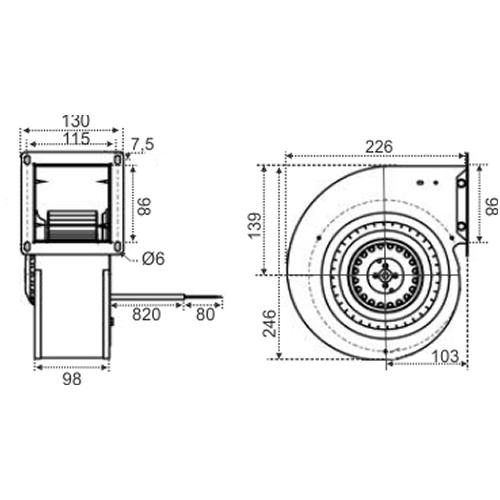 Ventilador Radial Siroco | 98 x 98R - Nework