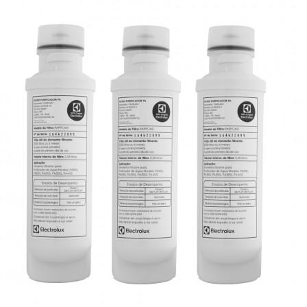 Filtro Refil para Purificador de Água Electrolux PA10N, PA20G, PA25G, PA30G, PA40G, PAPPCA10 - Original Kit 3 Peças