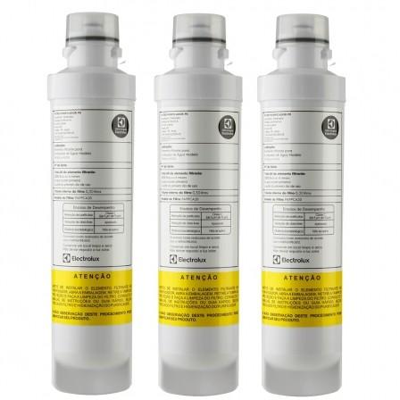 Filtro Refil para Purificador de Água  Electrolux PE10B, PE10X, PAPPCA20 Original  Kit 3 peças