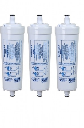 Refil Filtro Euro Flow BLS para Purificador de Água Europa HF By Hebe e Bliss - Compatível Kit c/ 3 Peças