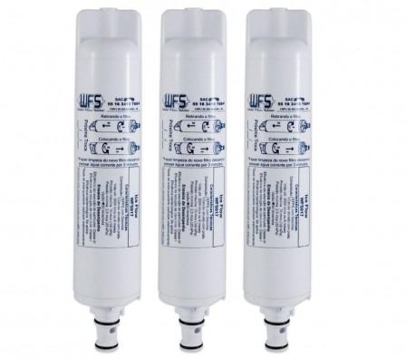 Refil Filtro Ice Flow para Purificador Consul Compatível Kit c/ 3 Peças