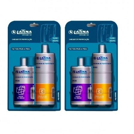 Refil Filtro Latina P655 e P635 Kit 2 Peças Original