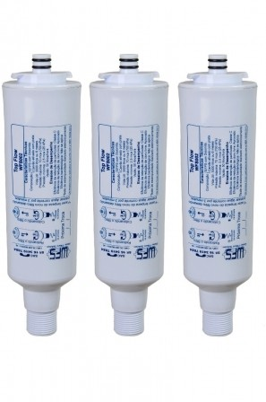 Refil Filtro Top Flow para Purificador de Água Colormaq - Compatível Kit c/ 3 Peças