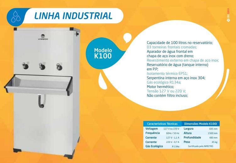 Bebedouro industrial 100 Litros Piso Linha K100
