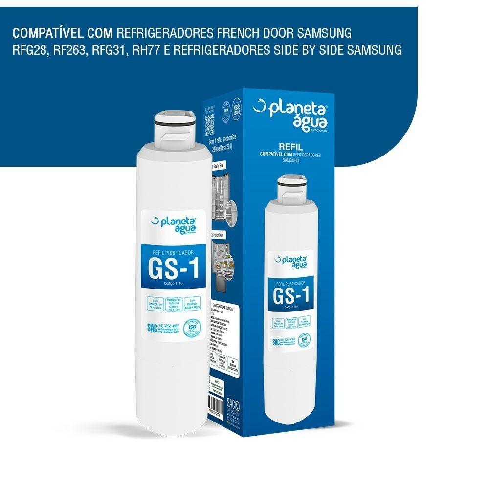 Filtro Refil Interno para Geladeira Refrigerador Side By Side  Samsung HAF-CIN/EXP