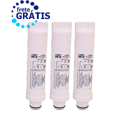Filtro Refil Para Purificador De Água Electrolux Compatível PE10B e PE10X  Kit 3 Peças + Frete Grátis