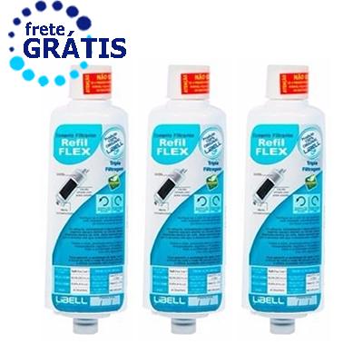 Filtro Refil Purificador de Água Libell Flex Original Kit 3 Peças + Frete Grátis