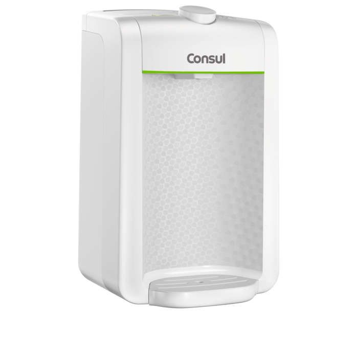 Purificador de água Consul compacto, com filtragem classe A