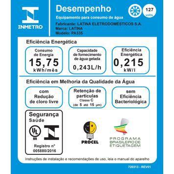 Purificador de Água Refrigerado PA335 Branco Latina - BiVolt