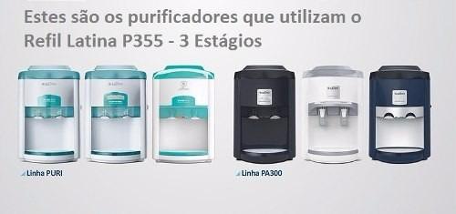 Refil Filtro Latina Original P355 - Kit 3 Peças + Frete Grátis