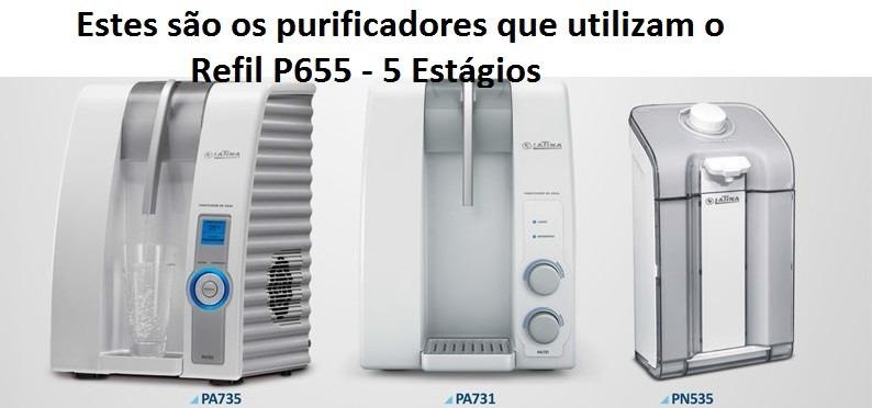 Refil Filtro Latina Original P655 Kit 3 Peças + Frete Grátis