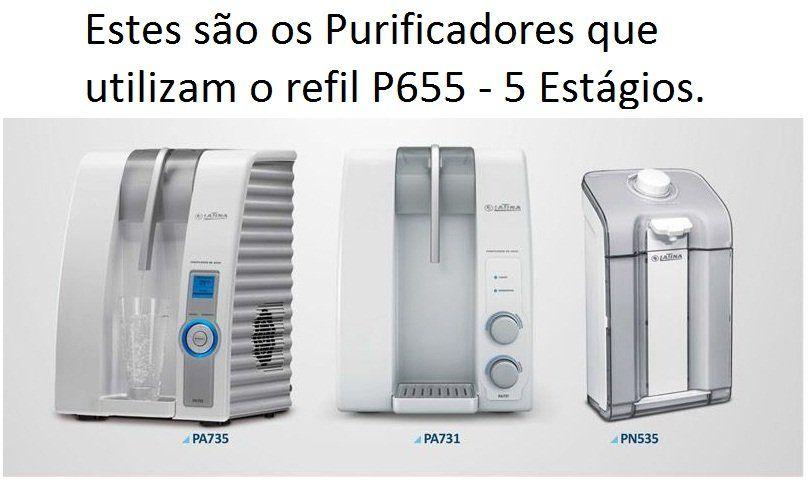 Refil Filtro Latina Original P655 Kit 4 Peças