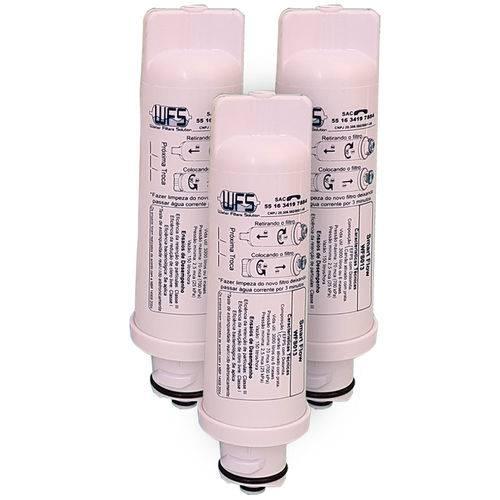 Refil Para Purificador de Água Electrolux Compatível PAPPCA10 - Kit 3 Peças