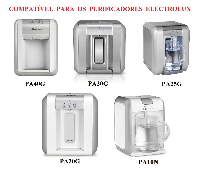 Filtro Refil para Purificador Electrolux PAPPCA10 Original Kit 3 Peças