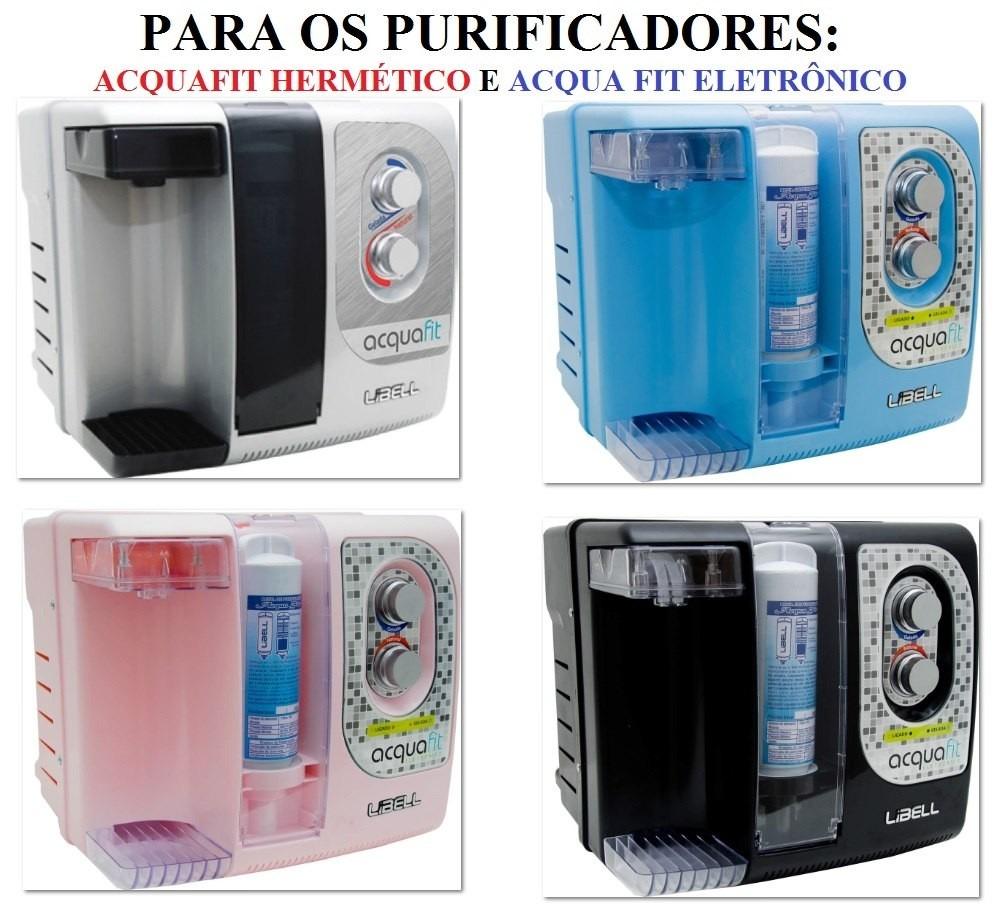 Filtro Refil para Purificador de Água Libell Fit Original Kit 3 Peças + Frete Grátis