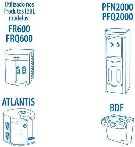 Refil Filtro Purificador de Água IBBL C+3 Original (Immaginare, Innovare, Evolux, FR600,PFN, Atlantis, PDF) Kit 3 Peças
