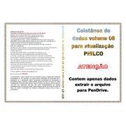 COLETÂNEA DE DADOS VOLUME 8 PARA ATUALIZAÇÃO PHILCO