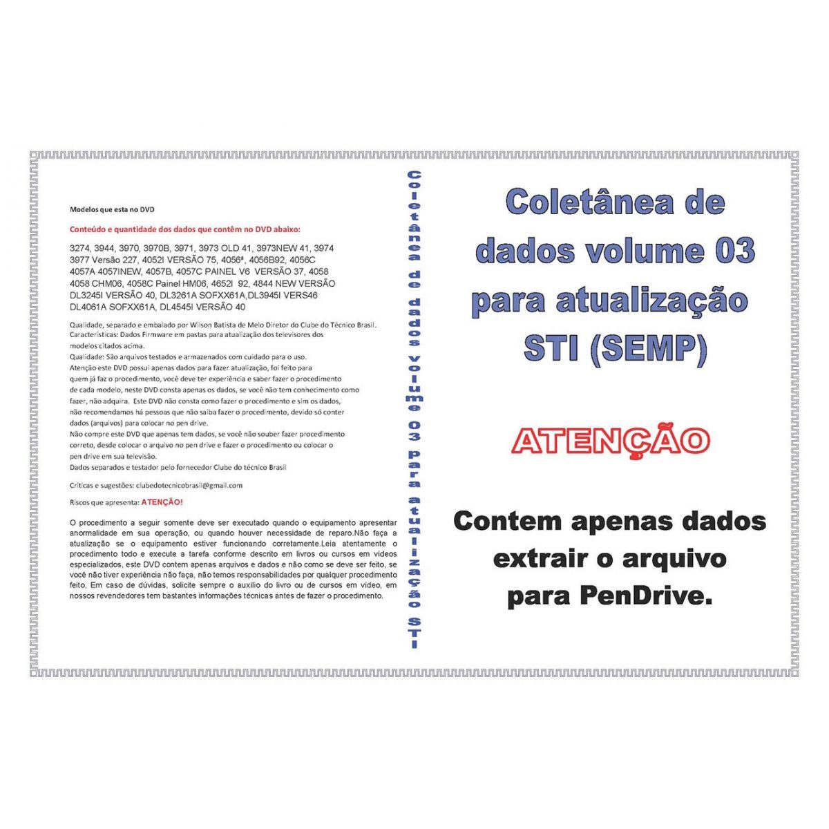 COLETÂNEA DE DADOS VOLUME 3 PARA ATUALIZAÇÃO STI (SEMP)