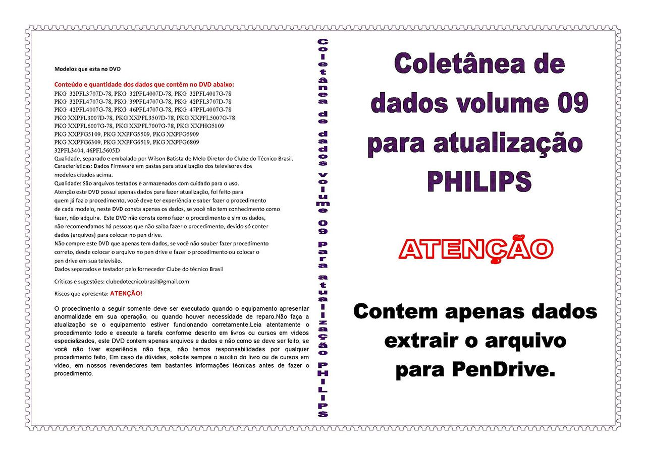 COLETÂNEA DE DADOS VOLUME 9 PARA ATUALIZAÇÃO PHILIPS