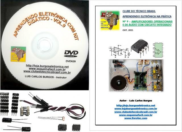 CURSO APRENDENDO ELETRÔNICA NA PRÁTICA COM KIT DIDÁTICO - VOLUME 9 - DVEK09 - EDIÇÃO MENSAL