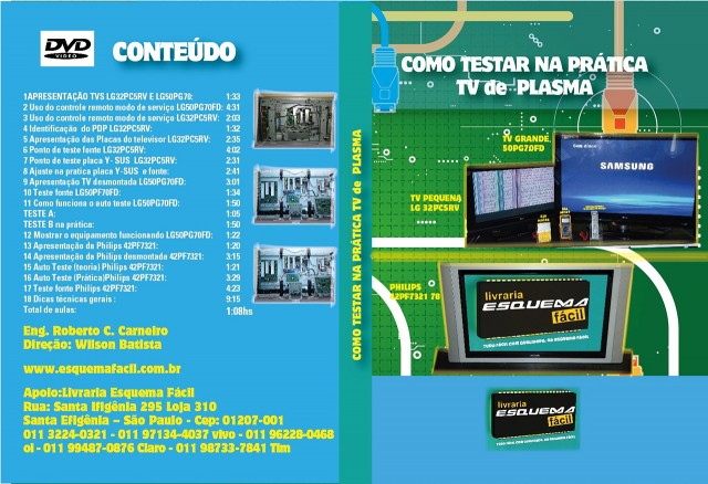 CURSO POR DOWNLOAD - COMO TESTAR NA PRÁTICA TV DE PLASMA