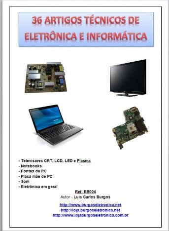 E-BOOK 36 ARTIGOS TÉCNICOS DE ELETRÔNICA E INFORMÁTICA - Ref EB004